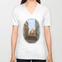vienna V-neck T-shirts featuring Nostalgia in Vienna by Vargamari