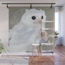 White Owl and Geometry Wall Mural