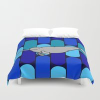 narwhal Duvet Covers featuring Narwhal by Madame Mim