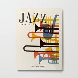 Vintage poster-Jazz festival 2016. Metal Print