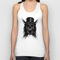 hat Tank Tops featuring Skull Hat by Fathi
