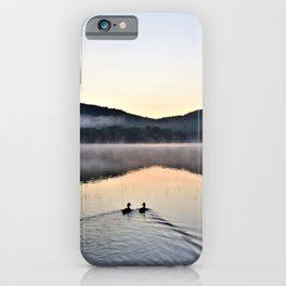 Love Ducks at Dawn on Lake George iPhone Case