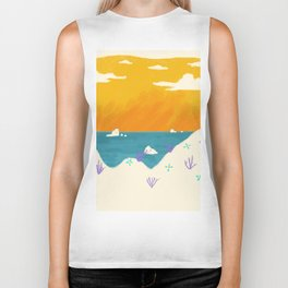 When I awoke I was on a beach and the day was just beginning Biker Tank