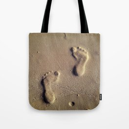 Prints on Sand Tote Bag