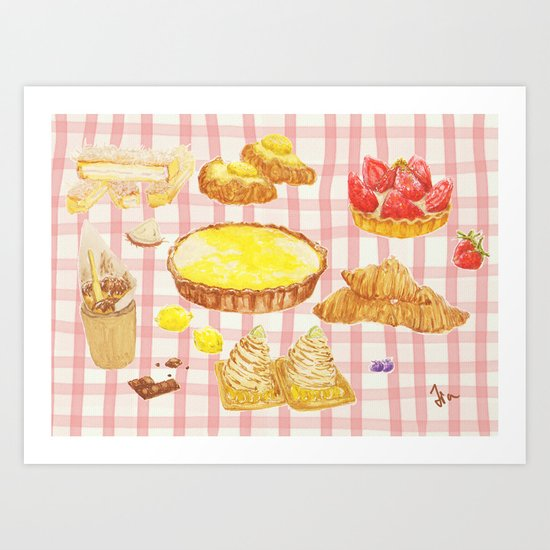 Desert time - with table cloth Art Print