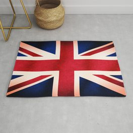 Union Jack UK British Grunge Flag  Rug