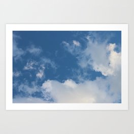 Clouds and Blue Sky Art Print
