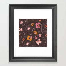 large flowers Framed Art Print