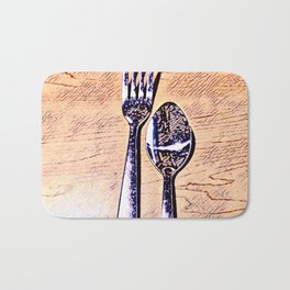 Forks and knives Bath Mat