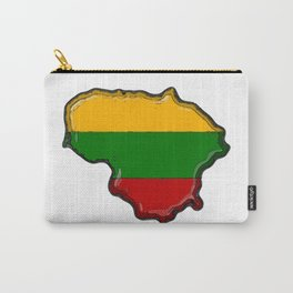 Lithuania Map with Lithuanian Flag Carry-All Pouch