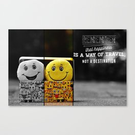 hapiness quote Canvas Print