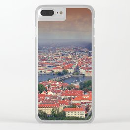 Panorama of Prague with Vltava river Clear iPhone Case