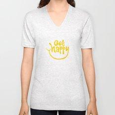 Get Happy! Unisex V-Neck