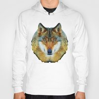 polygon Hoodies featuring polygon wolf by Ancello