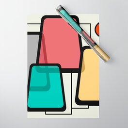 Mid-Century Modern Art Landscape 1.1 Wrapping Paper