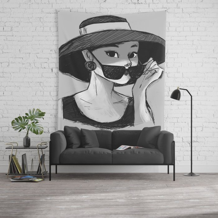 d54d497118 Audrey Hepburn - Glasses Wall Tapestry by banasakhnini