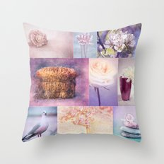 ROMANTIC COLLAGE Throw Pillow