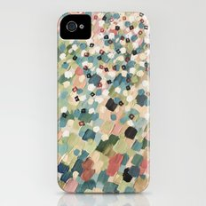 SWEPT AWAY 4 - Lovely Shabby Chic Soft Pink Ocean Waves Mermaid Splash Abstract Acrylic Painting Slim Case iPhone (4, 4s)