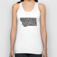 montana Tank Tops featuring Typographic Montana by CAPow!
