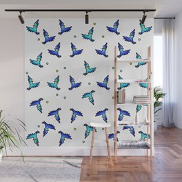 blue jays swirling Wall Mural