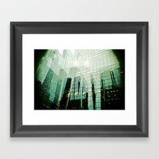 'DOWNTOWN' Framed Art Print