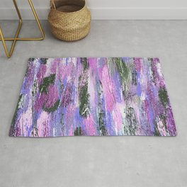 Abstract Brushstrokes Rug