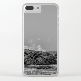 Peace and Power Sea Clear iPhone Case
