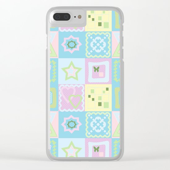 Delicate shades of baby pattern. Clear iPhone Case