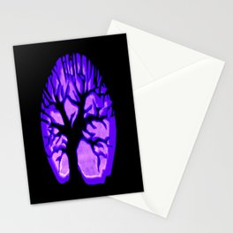 Happy HaLLoWeen. Brain Tree : Purple Stationery Cards