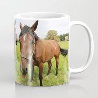 horses Mugs featuring horses by Falko Follert Art-FF77