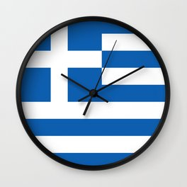 Flag of Greece, High Quality image Wall Clock