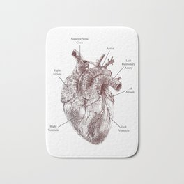 The Human Heart Bath Mat