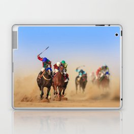 Horse racing Laptop & iPad Skin