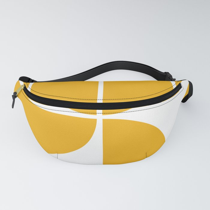Mid Century Modern Yellow Square Fanny Pack