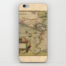 Map Of America 1579 iPhone Skin