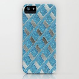Blue Grill Abstract iPhone Case