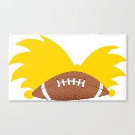 Football Head Canvas Print