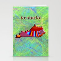 kentucky Stationery Cards featuring Kentucky Map by Roger Wedegis