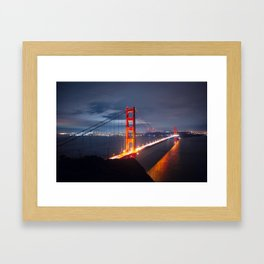 Golden Gate Bridge at Night | San Francisco, CA Framed Art Print