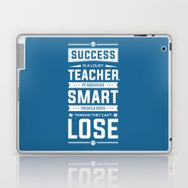Lab no. 4 Success is a lousy teacher motivational quote poster Laptop & iPad Skin