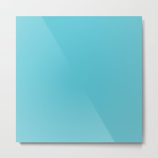 Simply Seaside Blue Metal Print