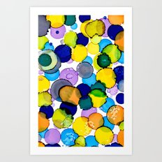 Blue splash of joy Art Print