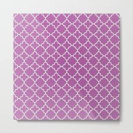 Radiant Orchid Quatrefoil - Baby Stimulation Pattern Metal Print