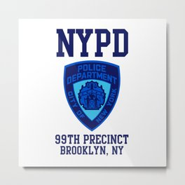 99TH PRECINCT BROOKLYN NEW YORK Metal Print