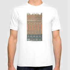 Don't Forget to Look Up: Potter Building MEDIUM Mens Fitted Tee White