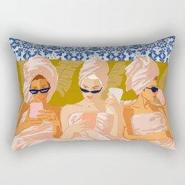Ladies-Only Club #illustration #painting Rectangular Pillow