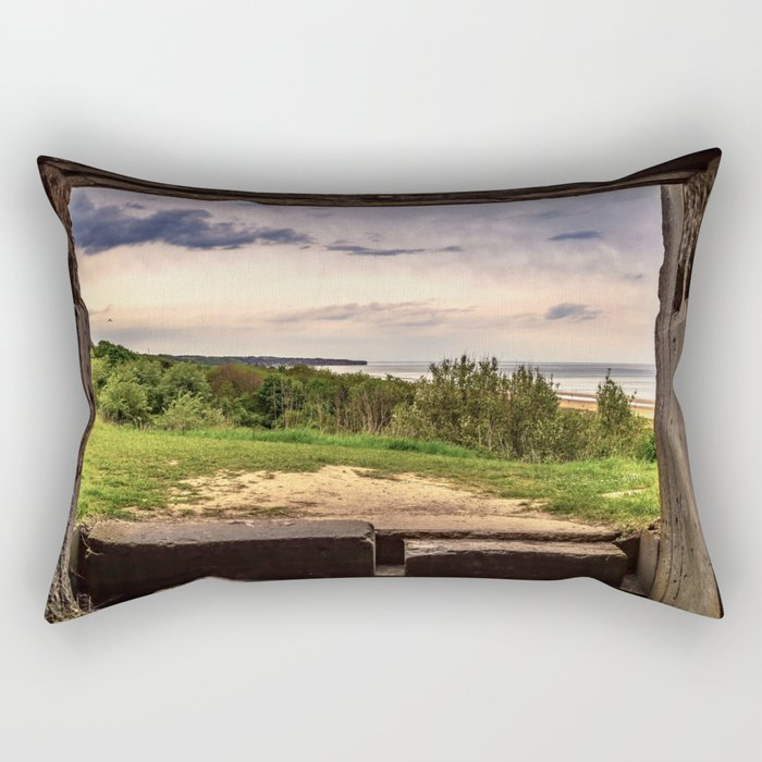 Omaha Beach Rectangular Pillow