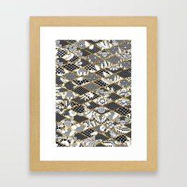 only lace Framed Art Print