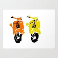 Vespa Scooter Print Art Print