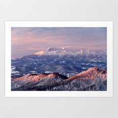 Beautiful sunrise in the Tatra mountains Art Print